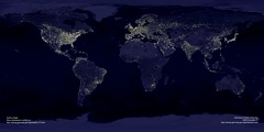 Test picture - Earth at night